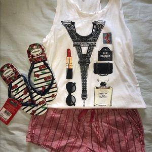 Girls Roxy Pinstripe cotton shorts. Size 10